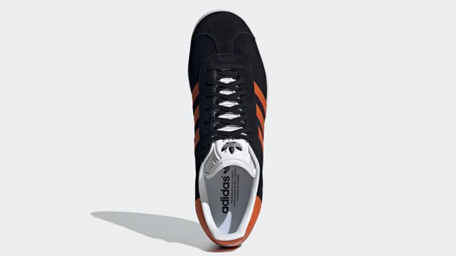 adidas Gazelle Core Black Orange Middle