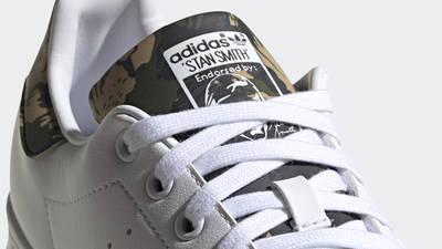 adidas Stan Smith Cloud White Camo Closeup