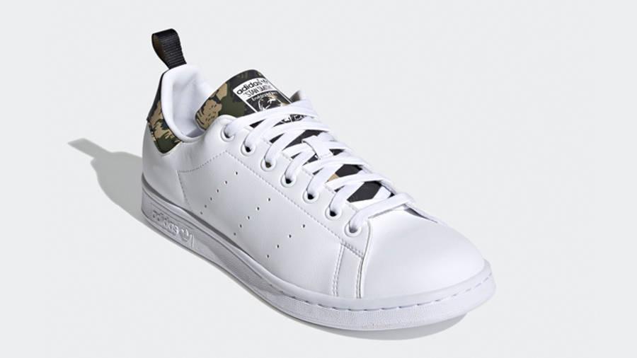 adidas Stan Smith Cloud White Camo Front