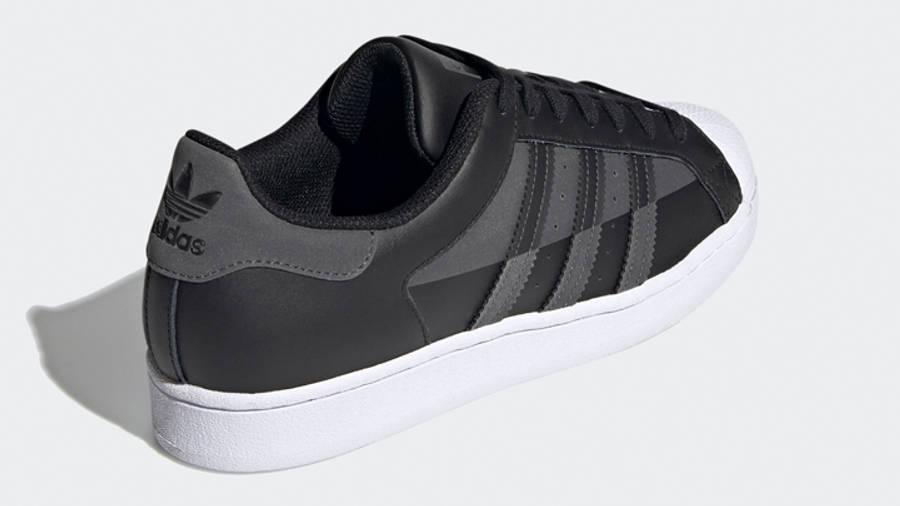 adidas Superstar Core Black Grey Back
