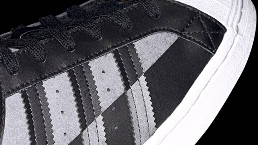 adidas Superstar Core Black Grey Closeup