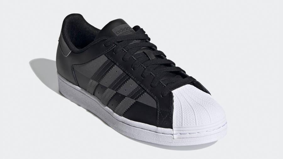 adidas Superstar Core Black Grey Front
