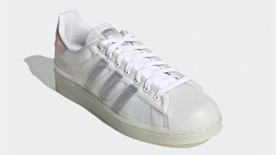 adidas Superstar Futureshell Cloud White Semi Solar Red Front