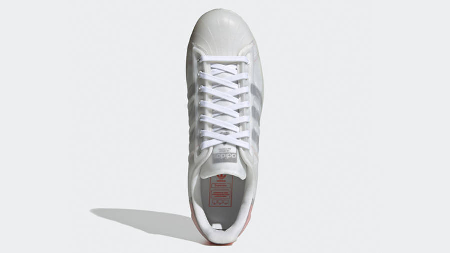 adidas Superstar Futureshell Cloud White Semi Solar Red Middle