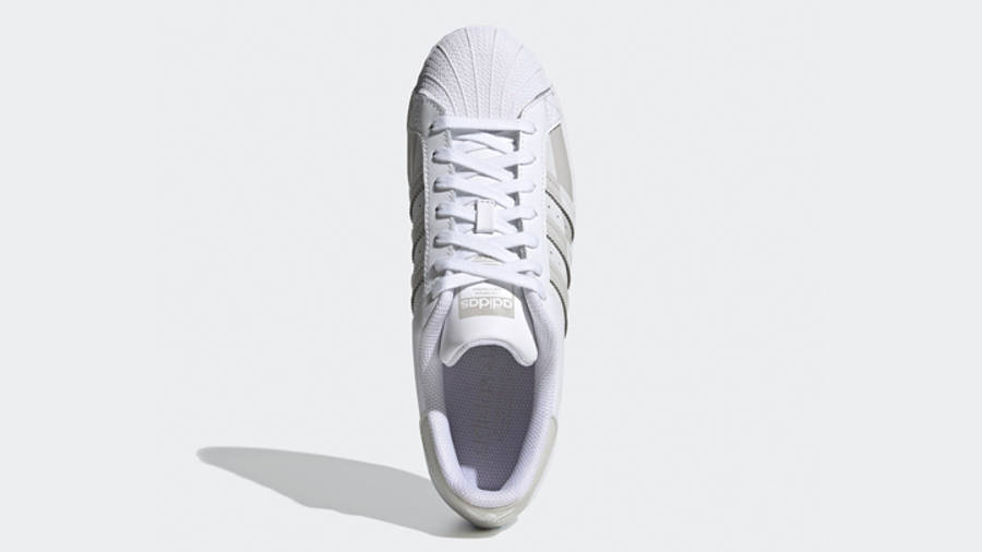 adidas Superstar White Grey One Middle