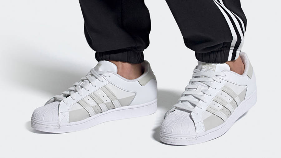 adidas Superstar White Grey One On Foot