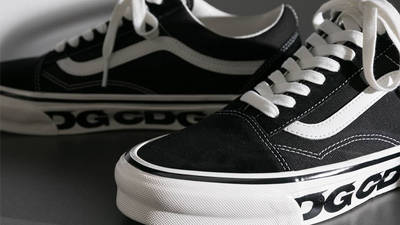 Comme des Garcons x Vans Old Skool Black Closeup