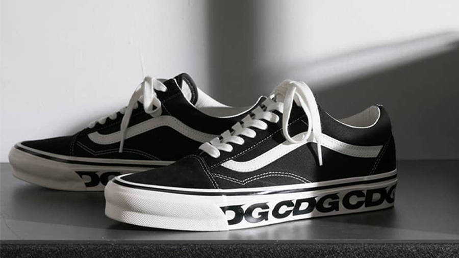Comme des Garcons x Vans Old Skool Black First Look