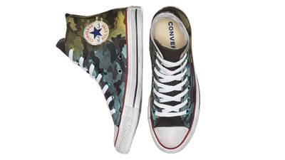 Converse Chuck Taylor All Star Camo Hi Navy Green Middle