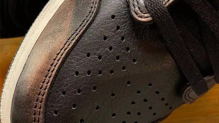 Jordan 1 Retro High Patina First Look Closeup