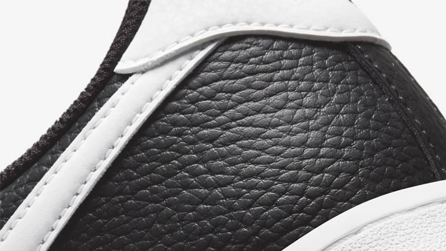 Nike Air Force 1 07 Black White Closeup