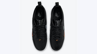 Nike Air Force 1 07 LV8 Black Orange DJ6887-001 middle
