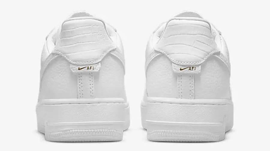Nike Air Force 1 Craft White Snakeskin CU4865-100 back