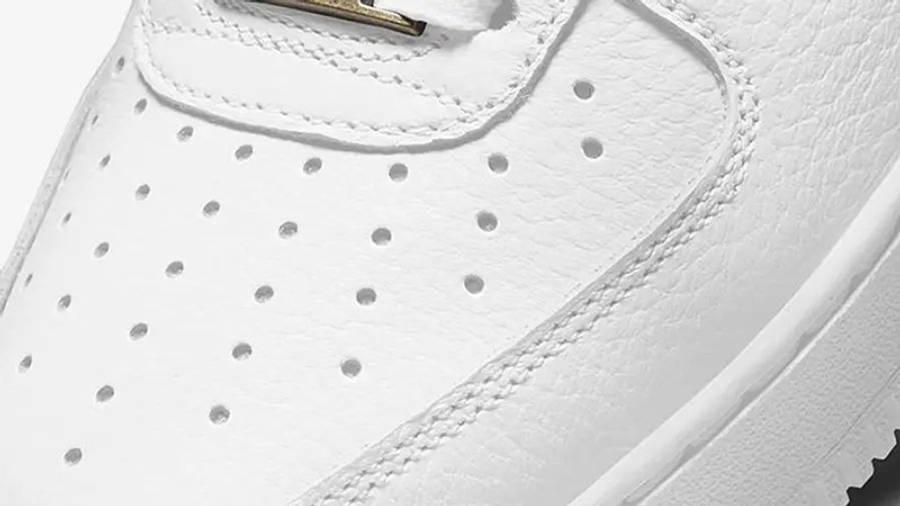Nike Air Force 1 Craft White Snakeskin CU4865-100 toebox