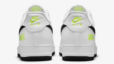Nike Air Force 1 Just Do It White Black Back