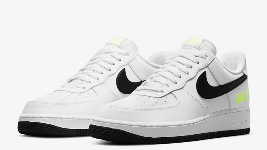 Nike Air Force 1 Just Do It White Black Front