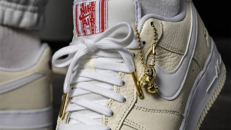 Nike Air Force 1 Low Premium Popcorn On Foot Closeup