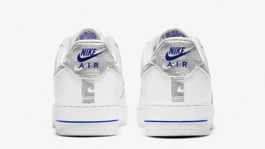 Nike Air Force 1 Low Topography White Blue DH3941-101 back