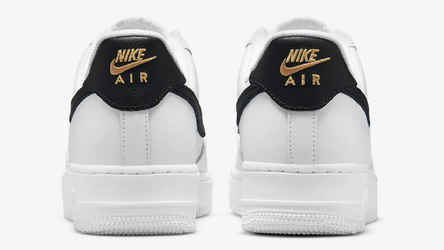 Nike Air Force 1 Low White Black Gold Back