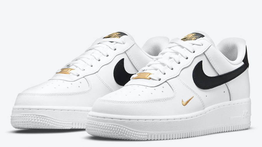 Nike Air Force 1 Low White Black Gold Front
