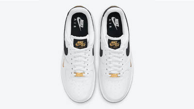Nike Air Force 1 Low White Black Gold Middle