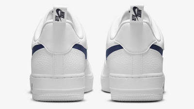 Nike Air Force 1 Low White Navy Back