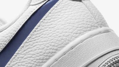 Nike Air Force 1 Low White Navy Closeup