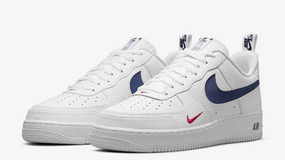 Nike Air Force 1 Low White Navy Front