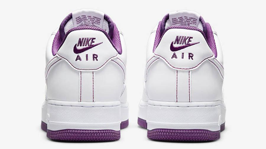 Nike Air Force 1 White Viotech Stitch Back