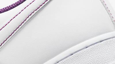 Nike Air Force 1 White Viotech Stitch Closeup