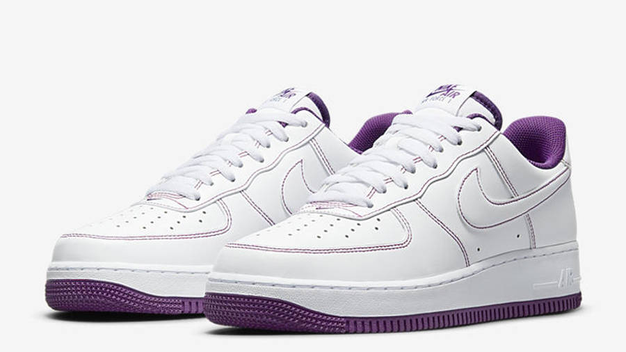 Nike Air Force 1 White Viotech Stitch Front