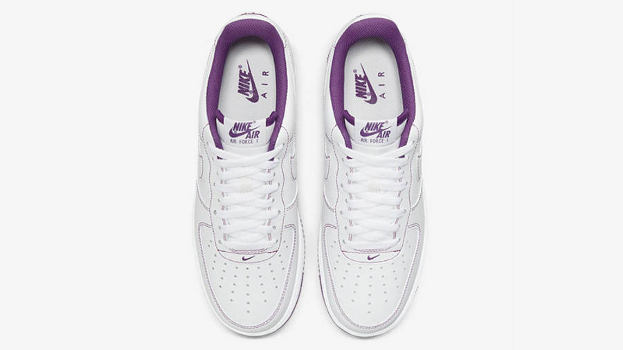 Nike Air Force 1 White Viotech Stitch Middle