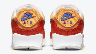Nike Air Max 90 Snakeskin Campfire Orange Back