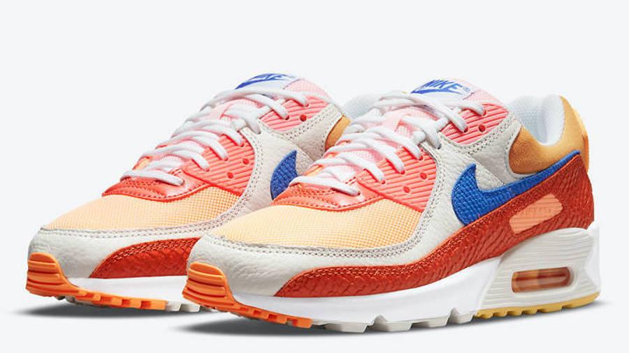 Nike Air Max 90 Snakeskin Campfire Orange Front