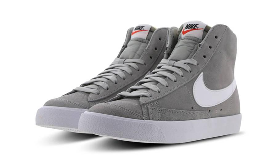 Nike Blazer Mid 77 Grey White Front