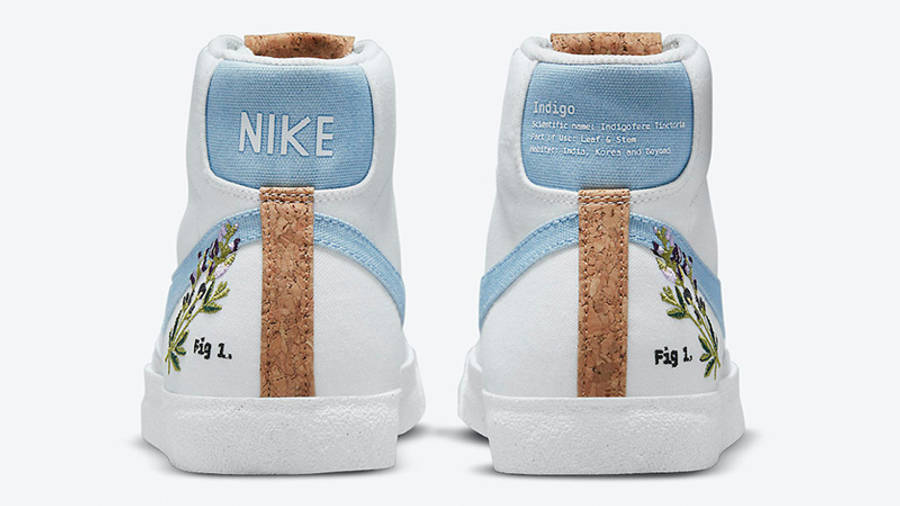 Nike Blazer Mid 77 Indigo DC9265-100 back