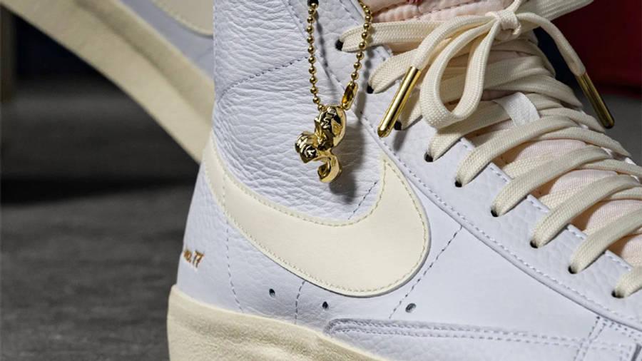 Nike Blazer Mid 77 Popcorn On Foot Closeup