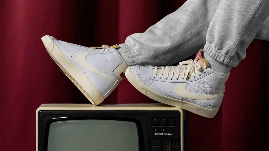 Nike Blazer Mid 77 Popcorn On Foot