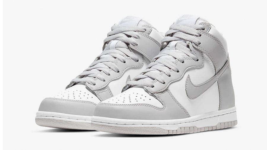 Nike Dunk High Vast Grey GS front
