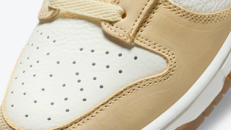 Nike Dunk Low Lemon Drop Front Closeup