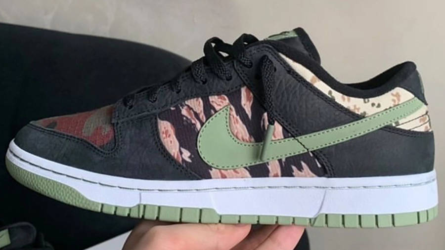 Nike Dunk Low SE Oil Green First Look In Hand