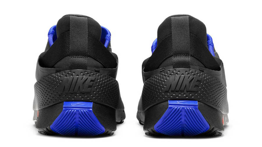 Nike GO FlyEase Black Racer Blue Back