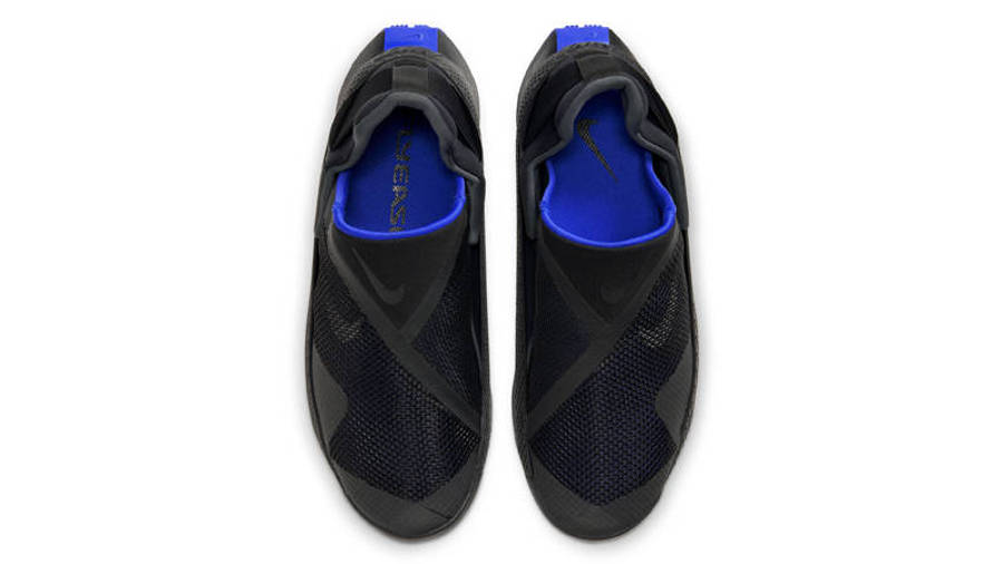 Nike GO FlyEase Black Racer Blue Middle