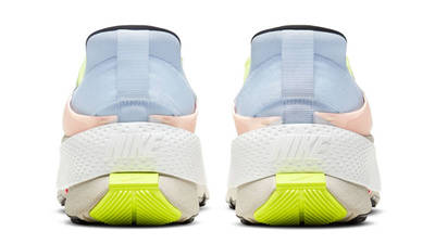 Nike GO FlyEase White Celestine Blue Volt Back