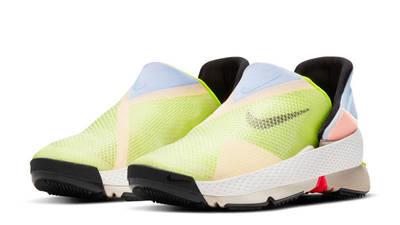 Nike GO FlyEase White Celestine Blue Volt Front