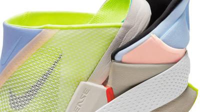 Nike GO FlyEase White Celestine Blue Volt Tongue