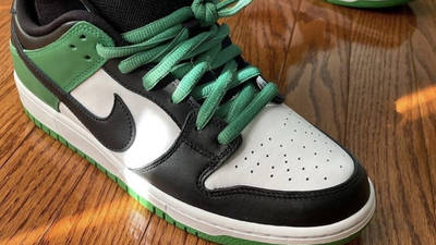 Nike SB Dunk Low Classic Green On Foot