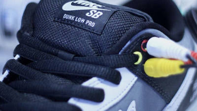 Nike SB Dunk Low VX1000 Camcorder Lifestyle Closeup