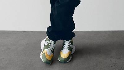 Stussy x Nike Air Huarache LE Dark Olive On Foot