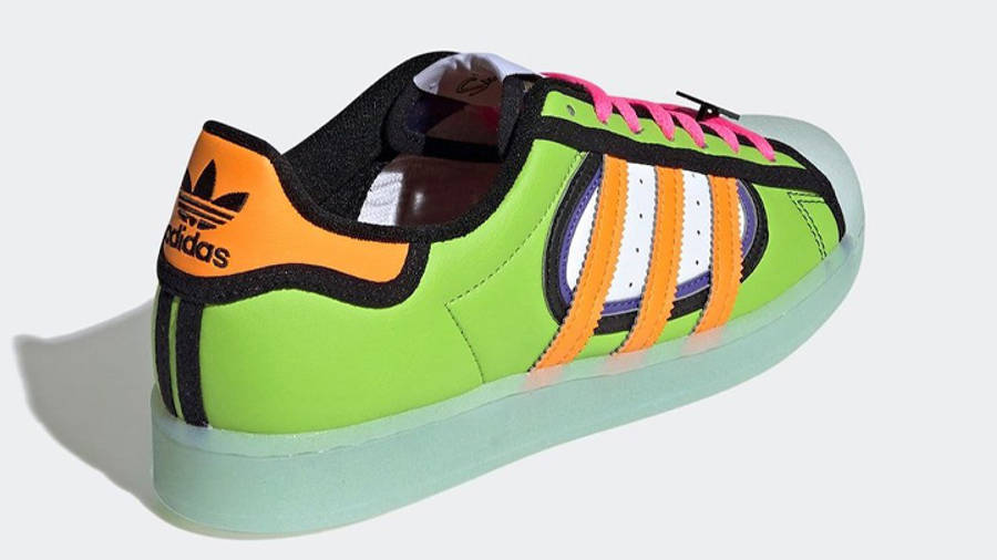 The Simpsons x adidas Superstar Squishee Back